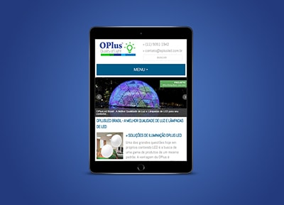 Responsive Design Tablet - Site OplusLed